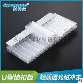 供应U型锁扣板工程阳光 轻质隔墙 防静电中空板