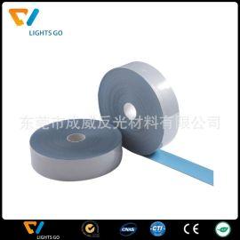 厂家供应 1CM宽亮银反光热贴条反光烫带用反光膜