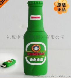 pvc软胶开模啤酒瓶u盘定制,创意礼品u盘,pvc软胶开模啤酒瓶u盘定制