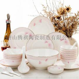 骨瓷餐具个性定制陶瓷餐具厂家供货 28头朝花夕拾
