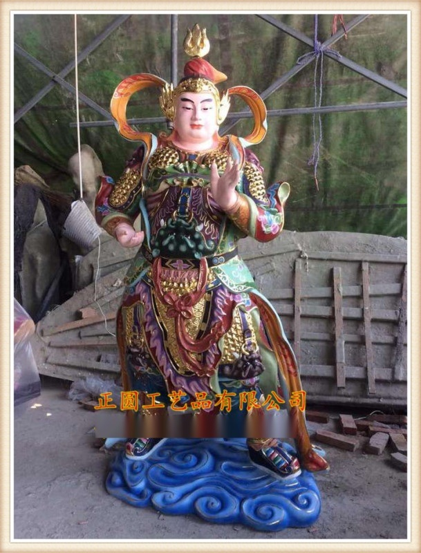 供應韋陀菩薩廠家,zy139玻璃鋼雕塑韋陀菩薩廠家
