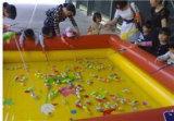 黑龍江伊春廣場充氣水池河南充氣玩具廠家現貨釣魚池