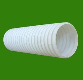 PE双壁波纹管 50-160白色波纹穿线管