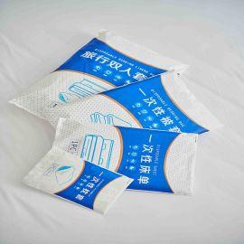 旅行一次性酒店床单枕套被套套装单双人隔脏四件套oem定制户外用