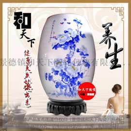 活瓷能量缸,负离子养生瓮,景德镇陶瓷汗蒸排浊缸定制