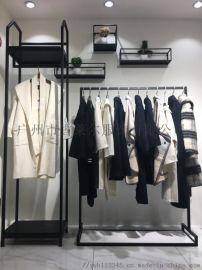 上海时尚女装珞炫品牌折扣尾货一手货源
