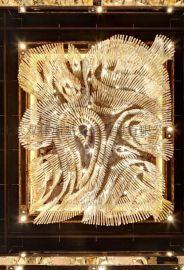 定製大堂豪華吊燈精美純手工編織水晶燈