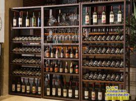 超市酒柜货架烟酒店展示柜不锈钢商用  钢木展示架