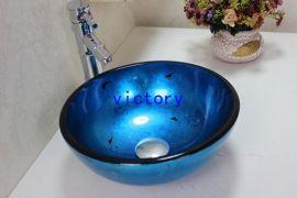 热销款特价促销手绘艺术钢化玻璃洗手盆 简约现代洗漱盆 N-107