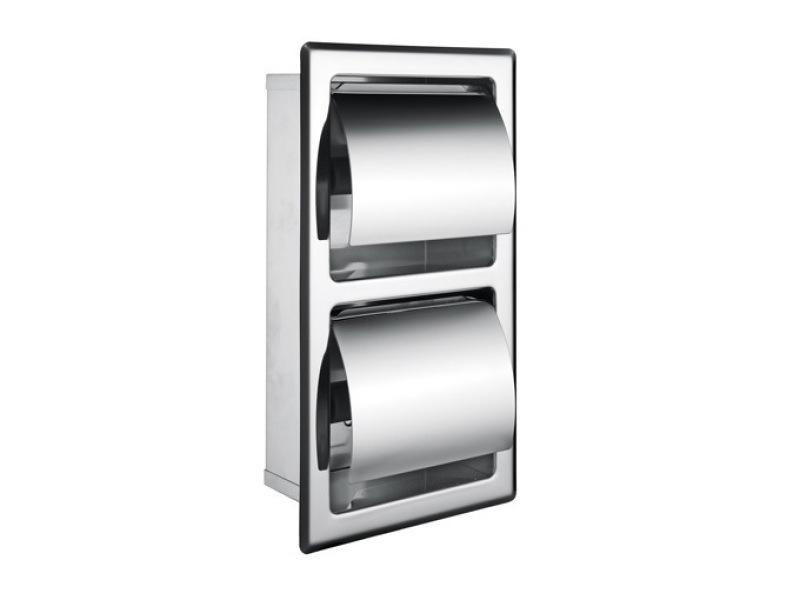 雙捲紙架豎式廁紙箱暗裝嵌入式廠家包郵