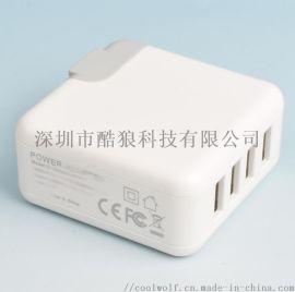 5V4.8A 四USB美規智慧手機充電器