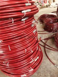 8*10米雙層鋼絲編織長江氣動噴塗機高壓管