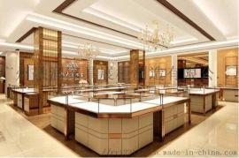 广州厂家制作电镀玻璃商场珠宝首饰黄金展示柜