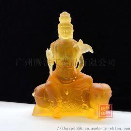 琉璃工艺品厂家琉璃佛像寺庙开光琉璃文殊菩萨
