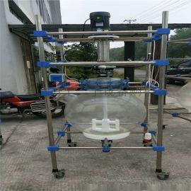 回收各种二手玻璃反应釜 二手双层玻璃反应釜