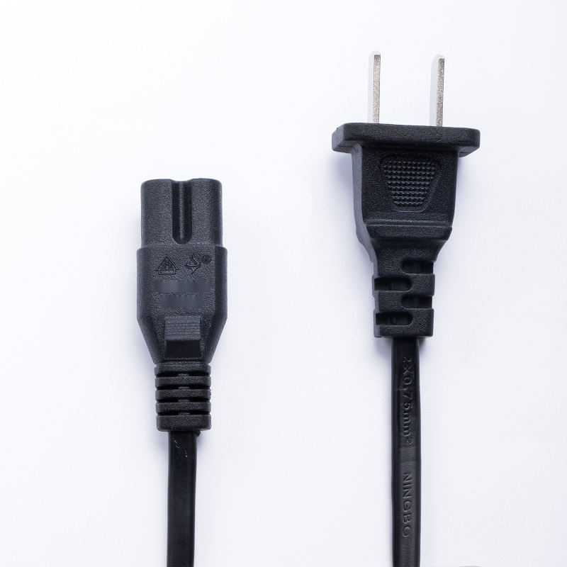 国标二插 八字尾 电视显示器小台灯通用 CCC认证