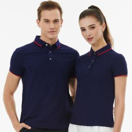 短袖t恤POLO衫有领定制学生班服运动聚会企业员工衣服印字工作服