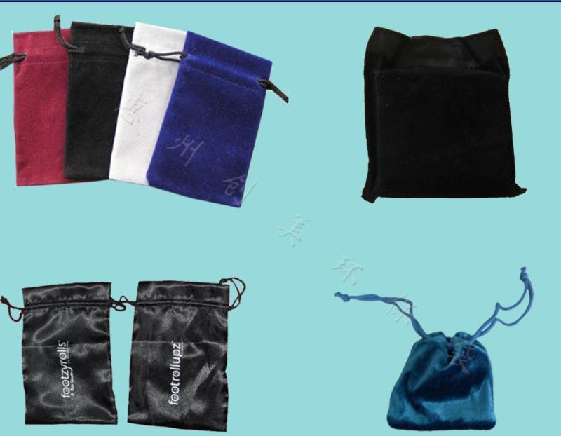 大批量生产订做各种绒布袋  绒布束口袋