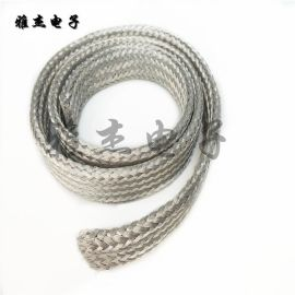 多层编织扁平铝带  纯铝软连接 大电流铝编织连接带 铝编织带