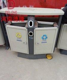 厂家直供 德隆重工 加厚型户外环保垃圾桶