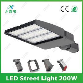 户外街道光控LED路灯头 200W鞋盒路灯