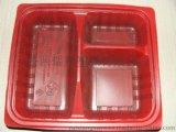 厂家直销陕西西安一次性三格米饭餐盒可外卖打包带走分格餐盒大量批发