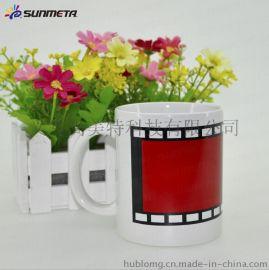 胶卷变色杯 创意局部变色马克杯 热转印魔术杯批发 陶瓷马克杯