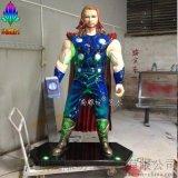 雕塑公司尚雕坊H205CM雷神模擬人物玻璃鋼雕塑 現貨租賃
