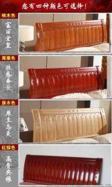 实木双人床1.8米气压实木 1.2 1.5米高箱储物橡木童床 高箱床