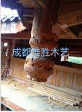 实木仿古雀潜木雕批发/成都雅胜景观工程