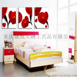 厂家定制客厅装饰画创意无框三联画无框画批发限时特价
