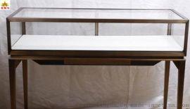 高档不锈钢玉器展示柜 珠宝首饰展柜 手表首饰玻璃柜台定做