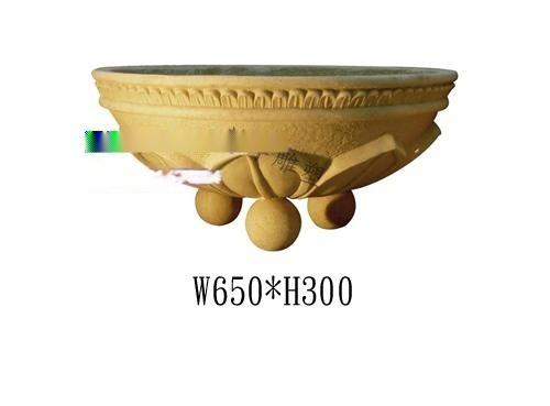 米黃景觀砂岩花鉢 人造砂岩花鉢實物圖 定製砂岩花鉢廠家