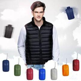 马甲定制印LOGO羽绒外套加厚保暖韩版广告马甲志愿者马甲定做logo