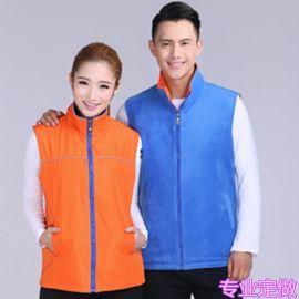 超市工作服复合马甲 服务员双面穿秋冬装 团体活动广告马甲工服