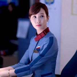 韩版美容师套装前台收银服务员酒店工作服秋冬装长袖制服女