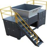 城市生活垃圾雙軸撕碎機處理系統-新貝機械環保處理設備