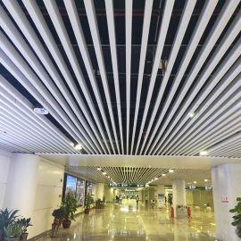 铝合金吊顶材料 白色铝方通 铝格栅吊顶