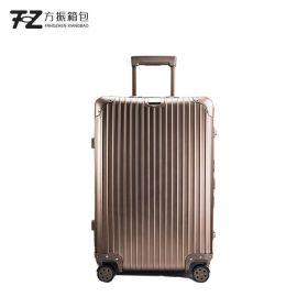 定做鋁鎂合金拉杆箱男女通用萬向輪大容量旅行登機箱可定制LOGO
