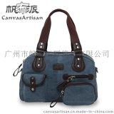 廠家直銷 熱賣款女式韓版手袋單肩包休閒百搭高品質帆布包 T01-2