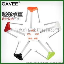 GAVEE时尚椅子创意塑料凳子加厚餐椅休闲椅户外椅会议电脑椅子