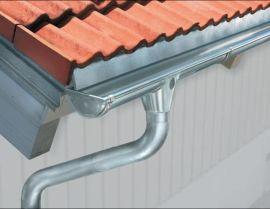 重庆**的别墅排水天沟雨水槽树脂成品檐沟PVC天沟落水系统