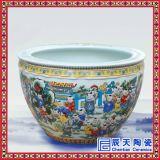 景德鎮瓷器陶瓷魚缸 90CM-1米大缸 酒店青花瓷陶瓷魚缸