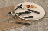 楼兰系列刀叉勺 日韩风彩木拼接304不锈钢