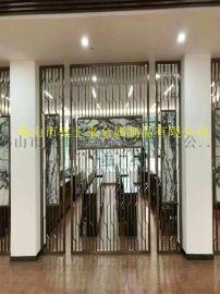 定制酒店不锈钢屏风花格隔断装饰玫瑰金不锈钢板