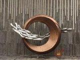 不鏽鋼圓環雕塑、堪比人間仙境的園林水景雕塑