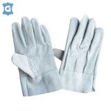 灰色牛二層皮革勞保工作手套
