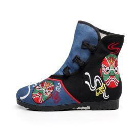 杭州汝美绣花鞋厂绣花鞋布鞋女靴布靴
