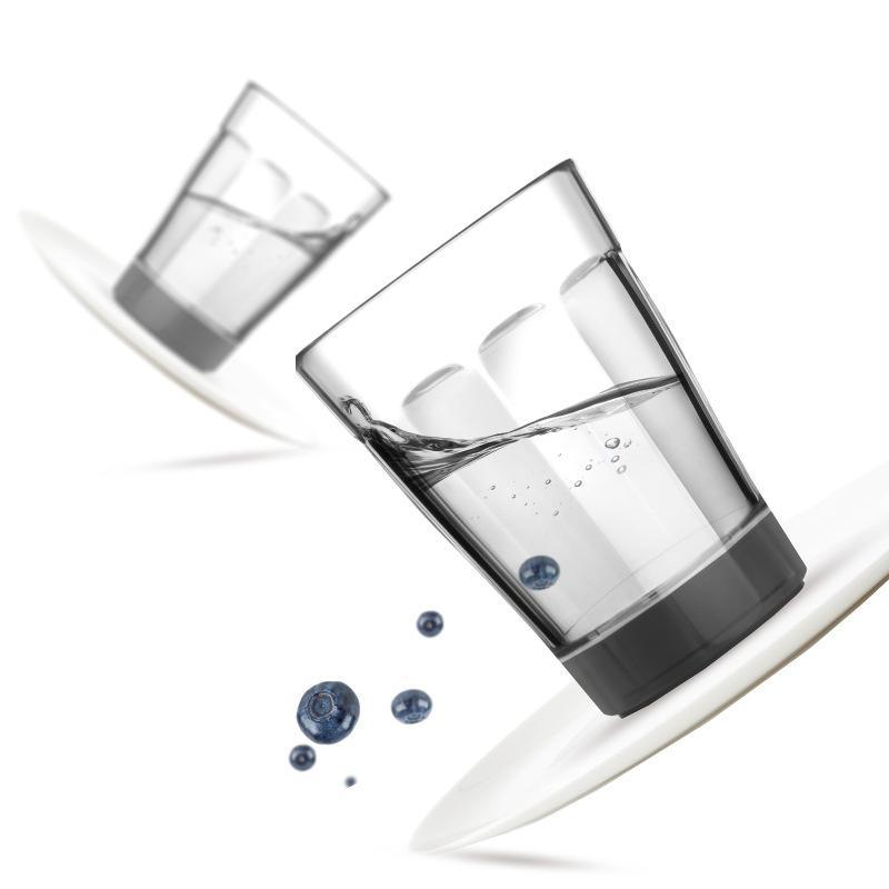 創意冰山不倒杯防摔塑料水杯便攜馬克杯辦公室隨手杯