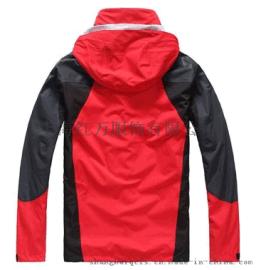 男款三層壓膠整體防水透氣保暖兩件套衝鋒衣 絨衣可拆